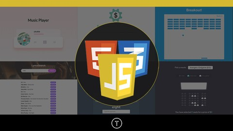 20 Web Projects With Vanilla JavaScript Udemy coupons