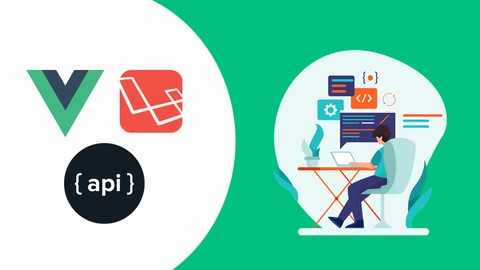 Laravel 8 Vuejs & RESTful API Course With Complete Project Udemy coupons