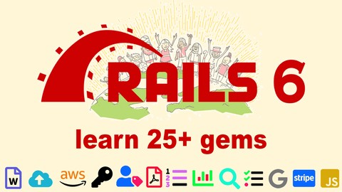 Ruby on Rails 6 Learn 25+ gems and build a Startup MVP 2020 Udemy coupons