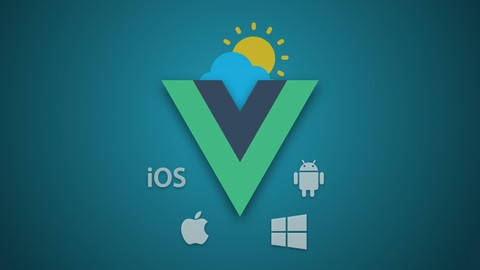 Weather App with Vue JS & Quasar (for Mobile, Desktop & Web) Udemy coupons